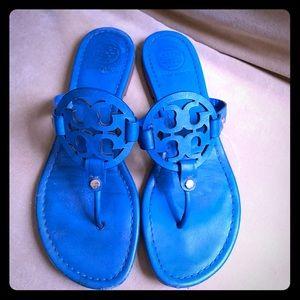 Tory Burch Bright Blue Miller Thong Sandals 8.5 M